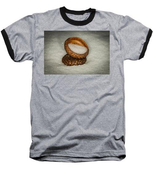 Frozen Acorn Cupule Baseball T-Shirt