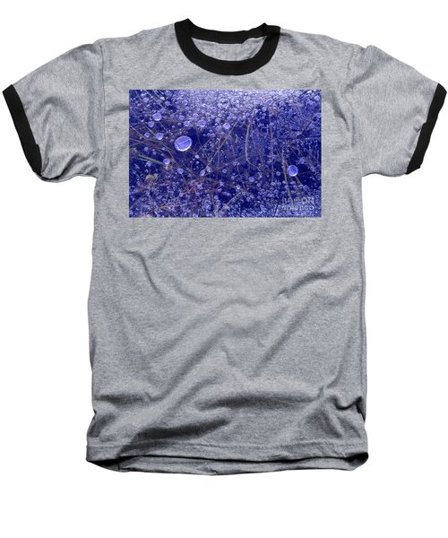 Baseball T-Shirt featuring the photograph Frozen Bubbles In The Merced River Yosemite Natioinal Park by Dave Welling