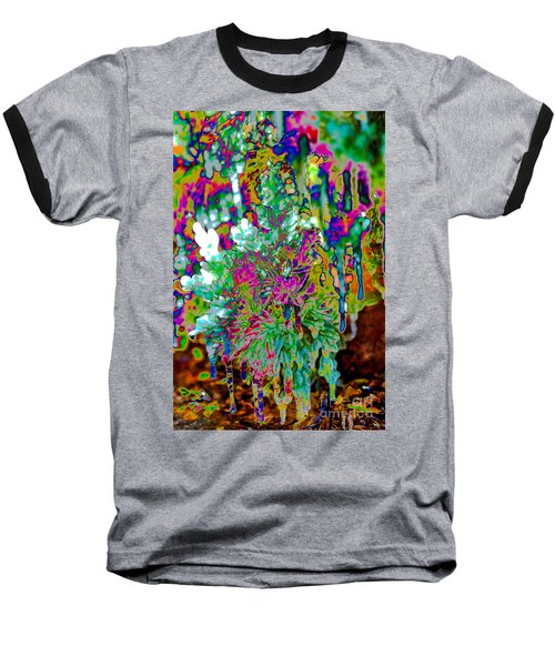 Baseball T-Shirt featuring the digital art Frozen Juniper by Mae Wertz