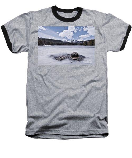 Baseball T-Shirt featuring the photograph Frozen Lake by Mae Wertz