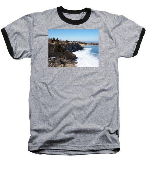 Frozen Quarry Baseball T-Shirt by Catherine Gagne
