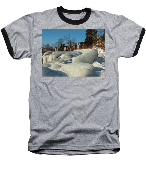 Baseball T-Shirt featuring the photograph Frozen Surf by James Peterson