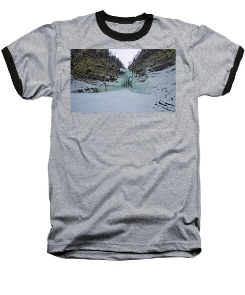 Frozen Waterfalls Baseball T-Shirt