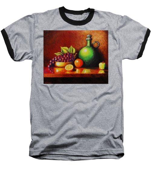 Fruit And Jug Baseball T-Shirt by Gene Gregory
