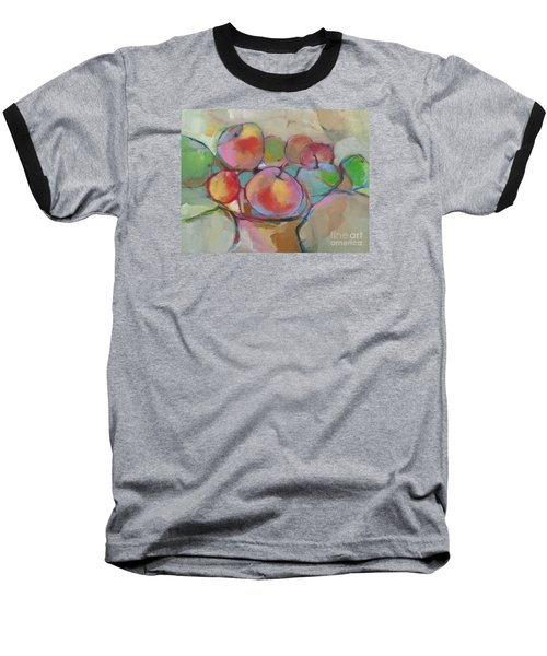 Baseball T-Shirt featuring the painting Fruit Bowl #5 by Michelle Abrams