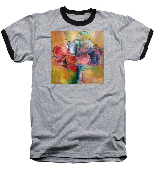 Baseball T-Shirt featuring the painting Fruit Bowl No.1 by Michelle Abrams