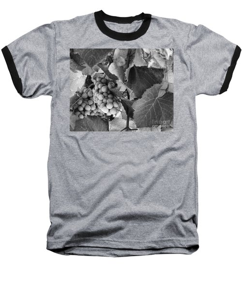 Fruit -grapes In Black And White - Luther Fine Art Baseball T-Shirt