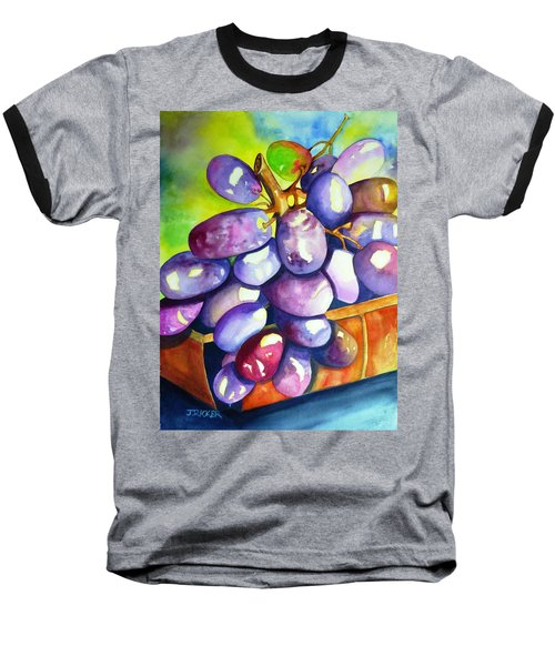 Purple Grapes Baseball T-Shirt