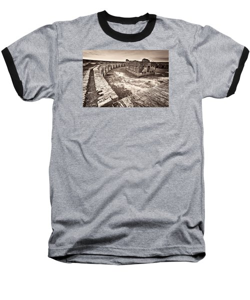 Ft. Pike Overview Baseball T-Shirt by Tim Stanley