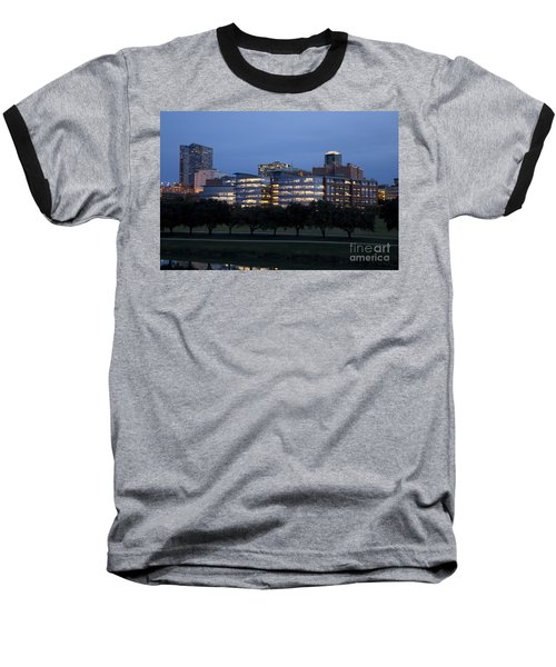 Ft. Worth Texas Skyline Baseball T-Shirt