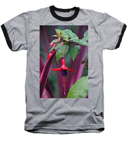 Fuchsia Delight Baseball T-Shirt by Byron Varvarigos