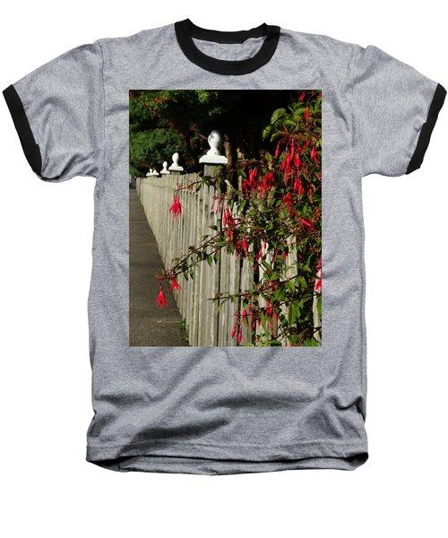 Fuchsias  And Fence Posts Baseball T-Shirt