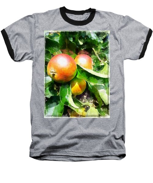 Fugly Manor Apples Baseball T-Shirt