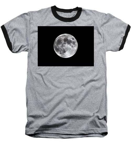 Baseball T-Shirt featuring the photograph Full Moon by Aaron Berg