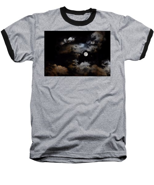 Full Moon After The Storm Baseball T-Shirt