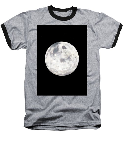 Full Moon In Black Night Baseball T-Shirt