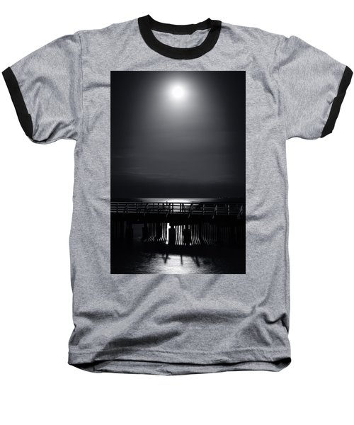 Full Moon Over Bramble Bay Baseball T-Shirt