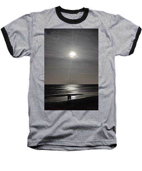 Full Moon Over Daytona Beach Baseball T-Shirt