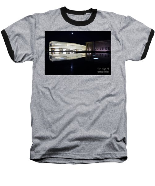 Full Moon Over Nelson Atkins Museum In Kansas City Baseball T-Shirt by Catherine Sherman