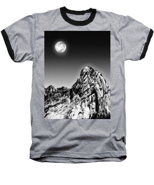 Full Moon Over The Suicide Rock Baseball T-Shirt
