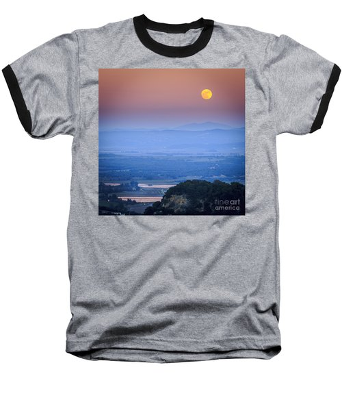 Full Moon Over Vejer Cadiz Spain Baseball T-Shirt