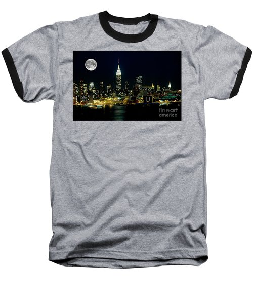 Full Moon Rising - New York City Baseball T-Shirt