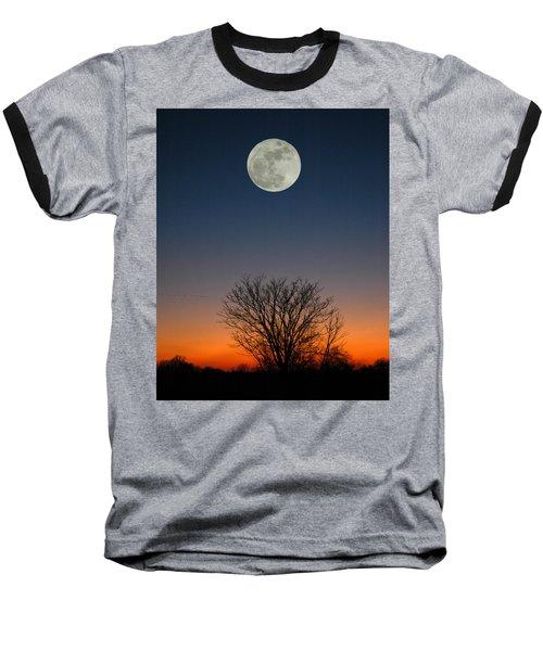 Baseball T-Shirt featuring the photograph Full Moon Rising by Raymond Salani III