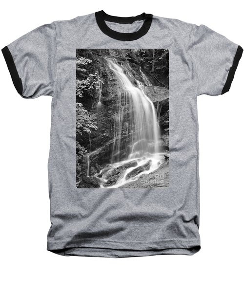 Fuller Falls Waterfall Black And White Baseball T-Shirt