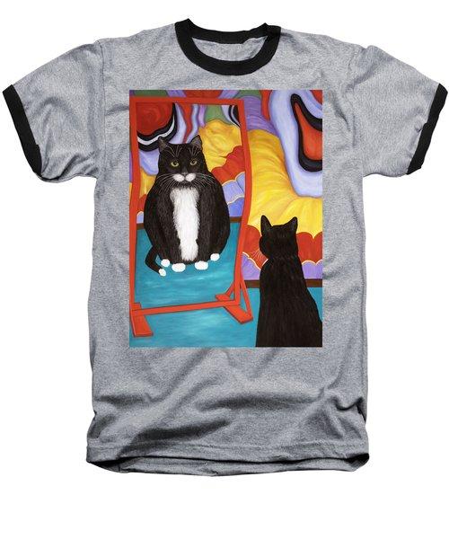 Fun House Fat Cat Baseball T-Shirt
