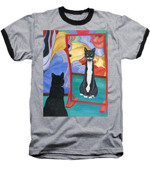Fun House Skinny Cat Baseball T-Shirt