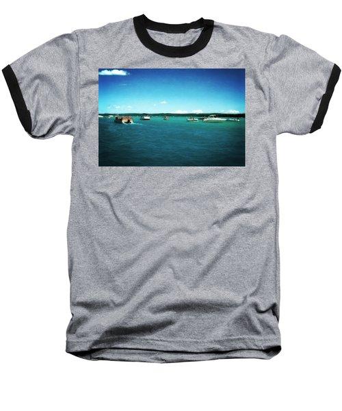 Fun On The Torch Lake Sandbar Baseball T-Shirt