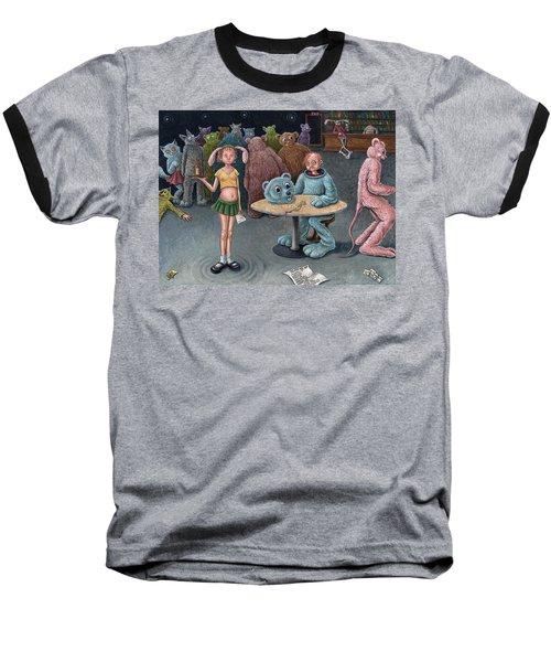 Furry Bar Baseball T-Shirt by Holly Wood