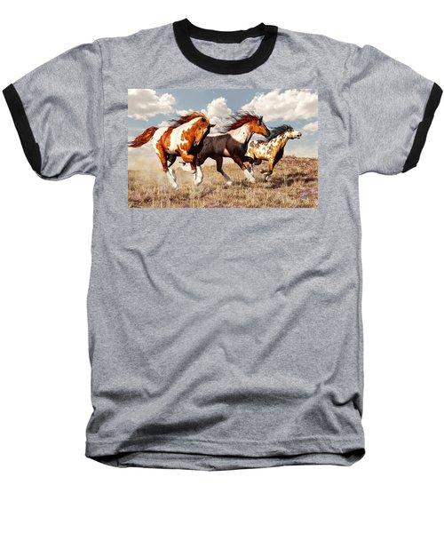 Galloping Mustangs Baseball T-Shirt