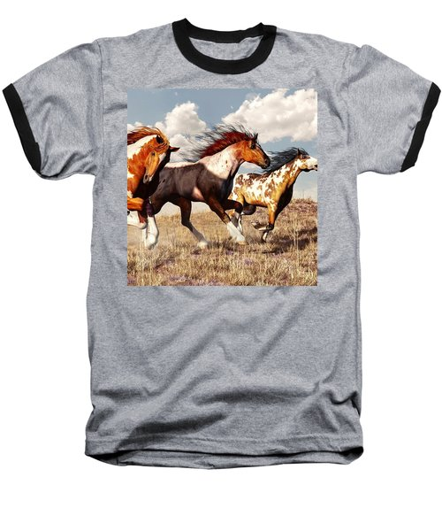 Galloping Mustangs Baseball T-Shirt