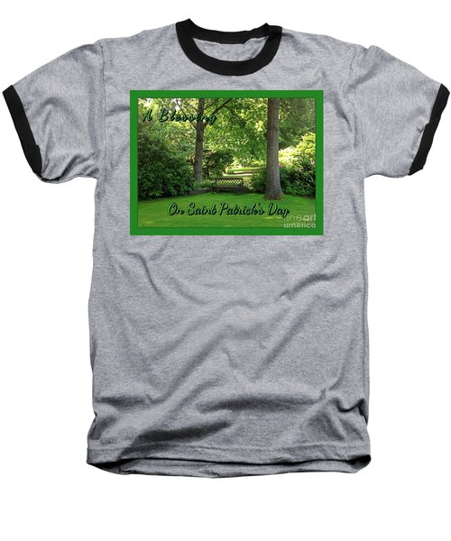 Garden Bench On Saint Patrick's Day Baseball T-Shirt