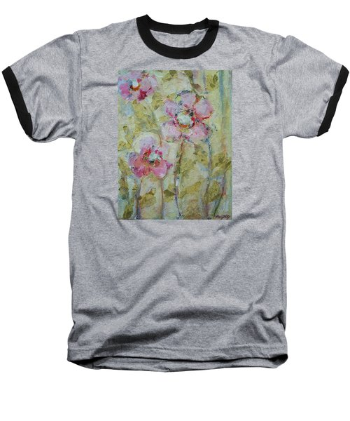 Baseball T-Shirt featuring the painting Garden Bliss by Mary Wolf