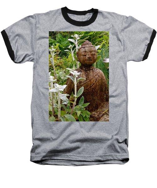 Garden Buddha Baseball T-Shirt