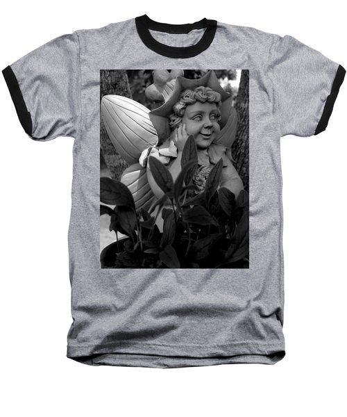 Garden Fairy Statue Baseball T-Shirt