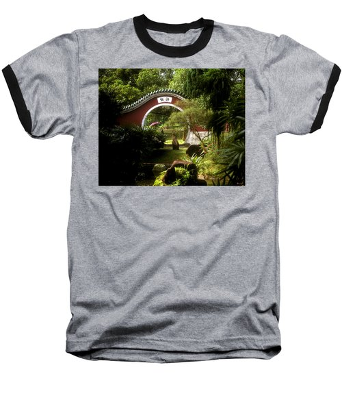 Baseball T-Shirt featuring the photograph Garden Moon Gate 21e by Gerry Gantt