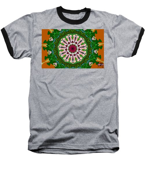 Baseball T-Shirt featuring the digital art Garden Party #2 by Elizabeth McTaggart