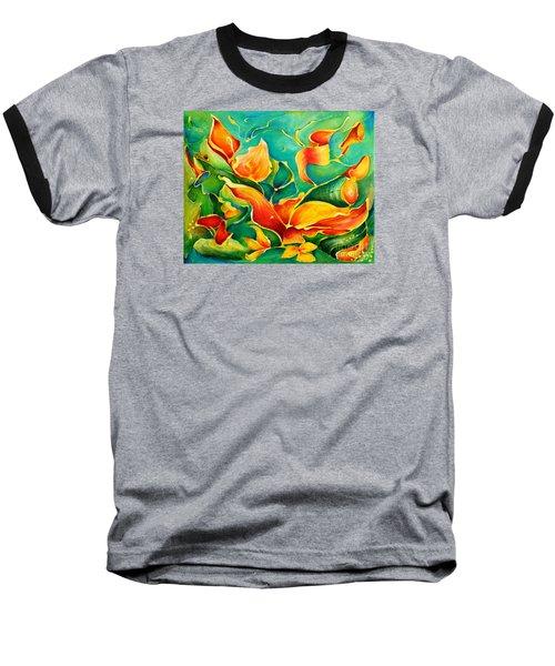 Garden Series No.3 Baseball T-Shirt by Teresa Wegrzyn