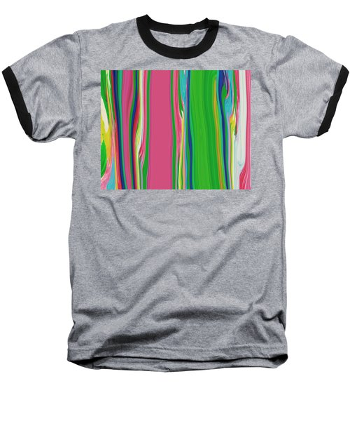 Baseball T-Shirt featuring the painting Garden Stripes  C2014 by Paul Ashby