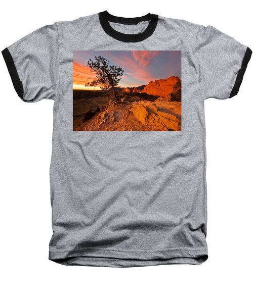 Garden Sunrise Baseball T-Shirt by Ronda Kimbrow