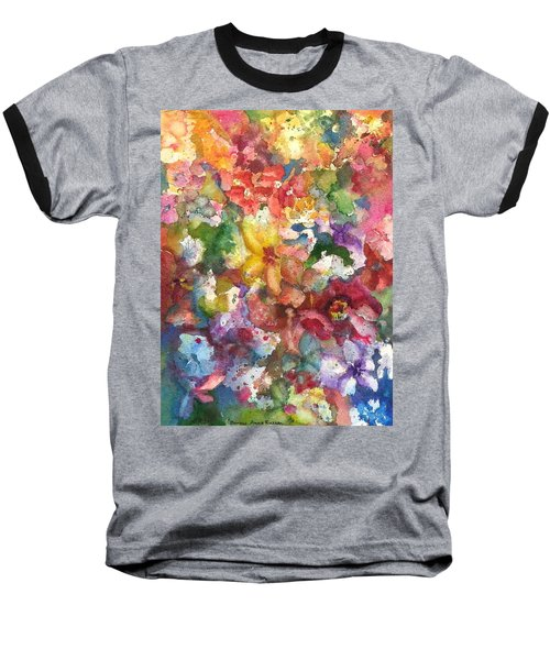 Garden - The Secret Life Of The Leftover Paint Baseball T-Shirt by Anna Ruzsan