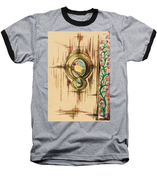Garden Through The Key Hole Baseball T-Shirt