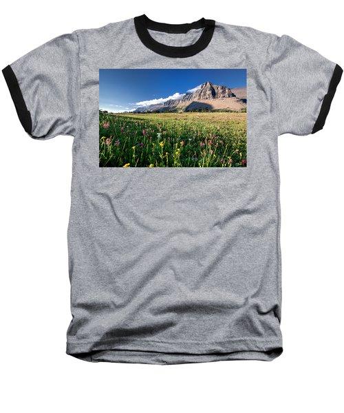 Garden Wall At Dusk Baseball T-Shirt