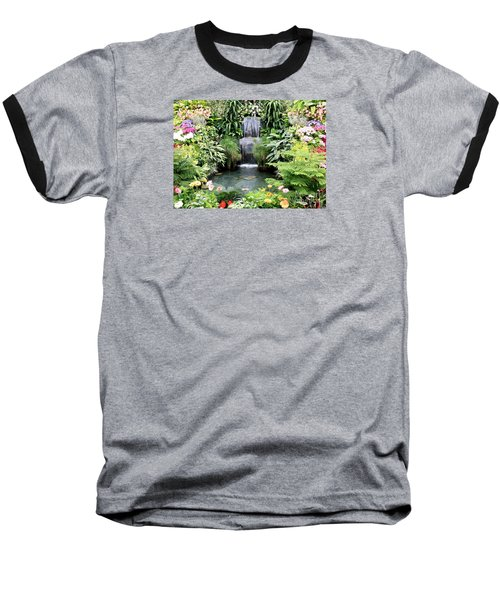 Garden Waterfall Baseball T-Shirt