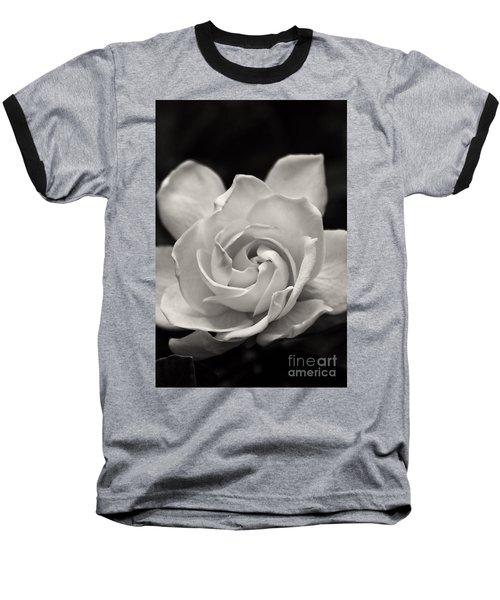 Gardenia Bloom In Sepia Baseball T-Shirt