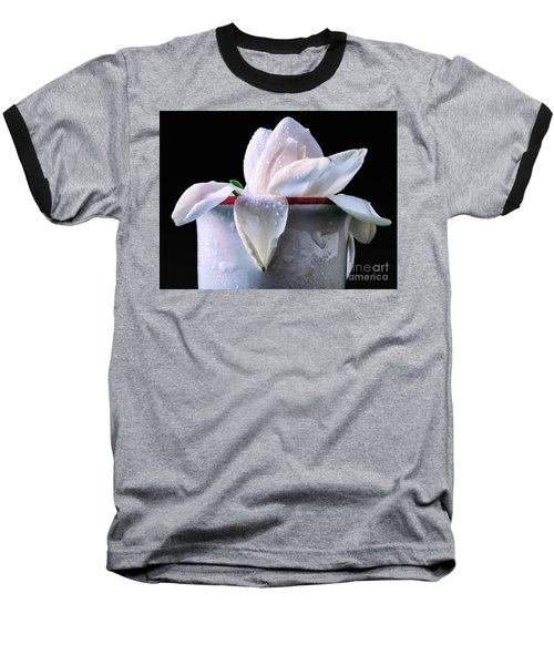 Baseball T-Shirt featuring the photograph Gardenia In Coffee Cup by Silvia Ganora