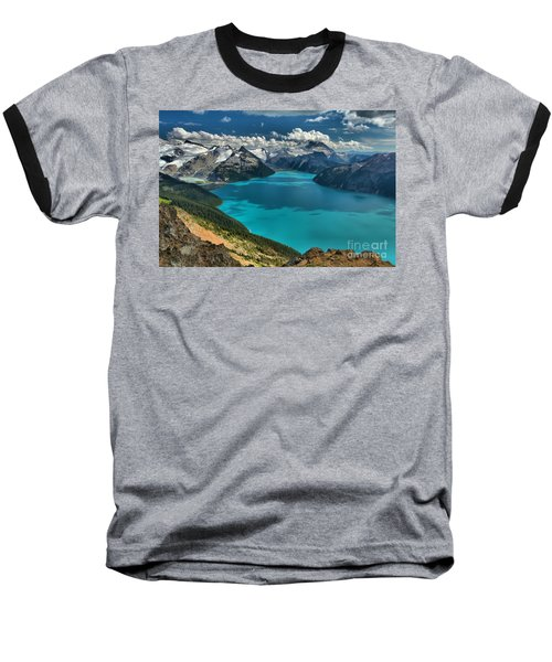 Garibaldi Lake Blues Greens And Mountains Baseball T-Shirt